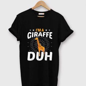 Original I'm A Giraffe Funny Halloween Party Costume Gift shirt