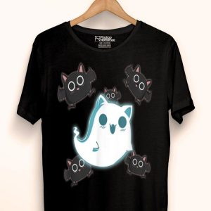 Pastel Goth Cute Ghost Cat And Bats shirt