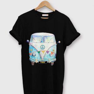 Premium 1969 Hippie Peace Van Campervan Colorful shirt
