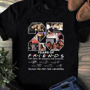 Premium 25 Years Of Friends Thank You For The Memories Signature shirt