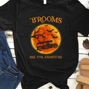 Premium Brooms Are For Amateur Bus School Job Halloween Gift shirt
