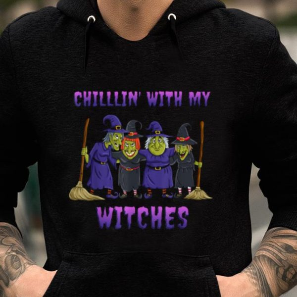 Premium Chillin With My Witches Halloween Funny shirt