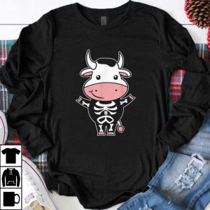 Premium Cow Skeleton Costume Funny Easy Animal Halloween Gift shirt