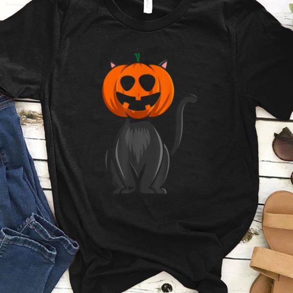 Premium Cute Halloween Pumpkin Black Cat Jack O Lantern shirt