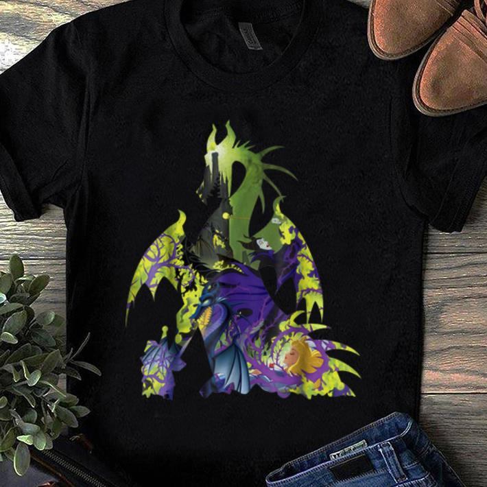 Premium Disney Sleeping Beauty Maleficent Dragon Silhouette Shirt
