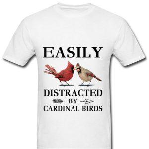 Premium Easily Distracted By Cardinal Birds shirt