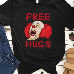 Premium Free Hugs Evil Killer Scary Clown Halloween Gift shirt