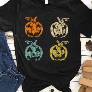 Premium Grunge Jack O' Lantern Pumpkin Eyelashes Halloween shirt
