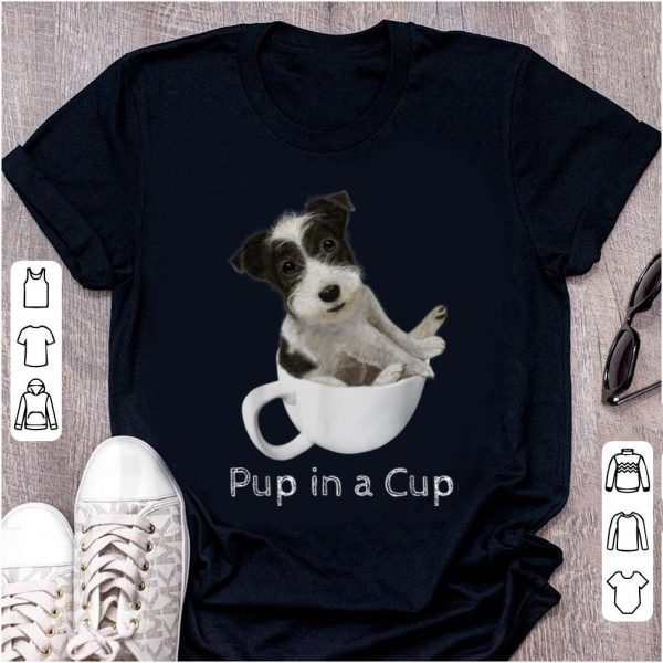 Premium Jack Russell Terrier Puppy In A Cup shirt
