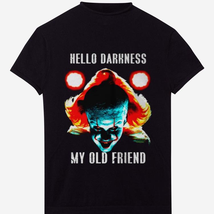 Premium hello darkness my old friend pennywise shirt 1 - Premium hello darkness my old friend pennywise shirt