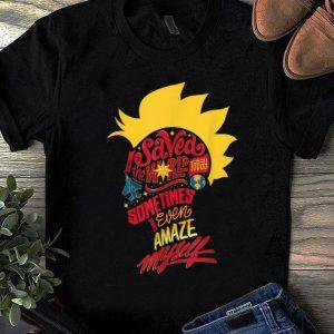 Pretty Captain Marvel Mohawk I Saved The World Today shirt