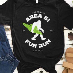 Pretty First Annual Area 51 Fun Run Bigfoot Ufo shirt