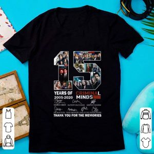 Top 15 Years Of Criminal Minds Thank You For The Memories Signature shirt