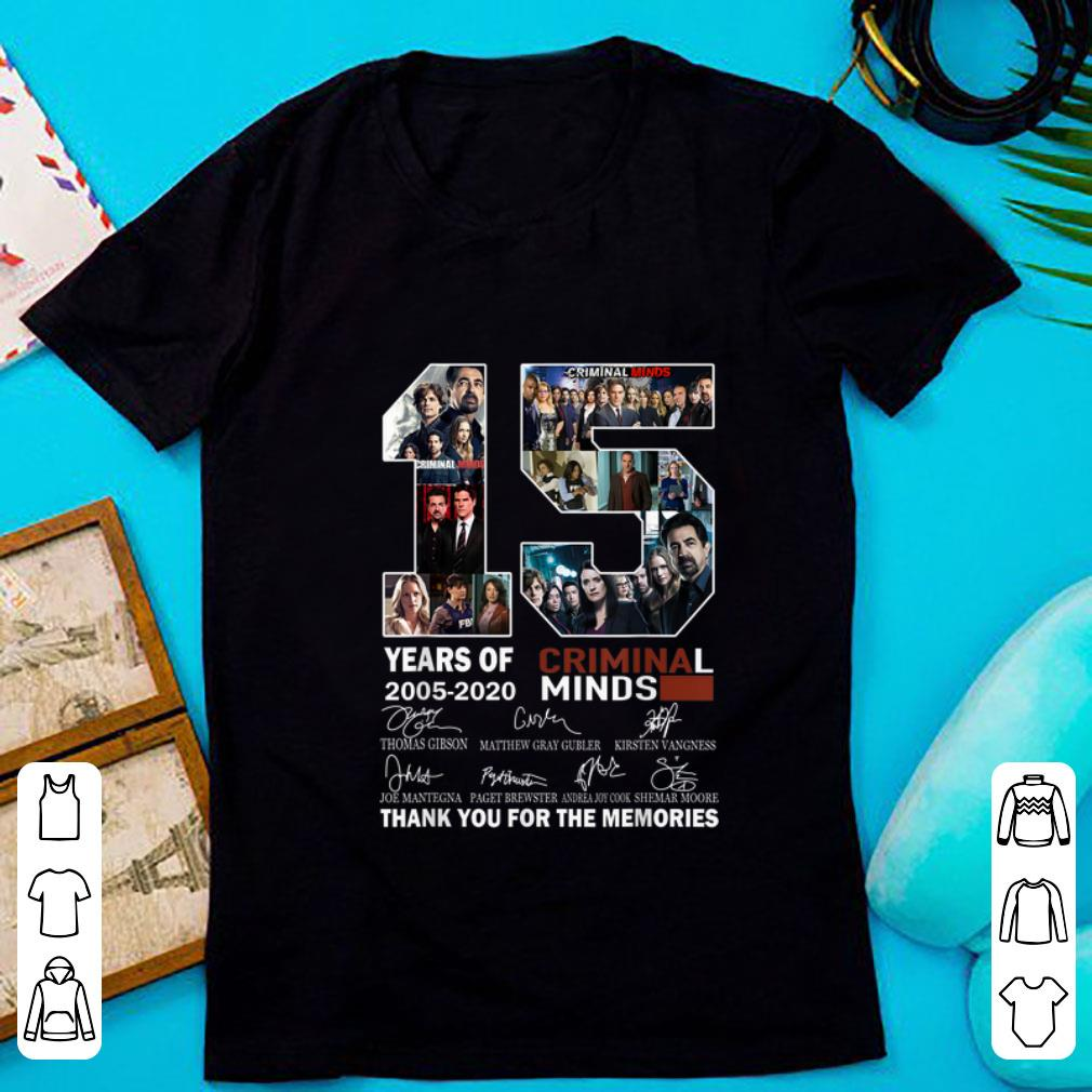 Top 15 Years Of Criminal Minds Thank You For The Memories Signature shirt 1 - Top 15 Years Of Criminal Minds Thank You For The Memories Signature shirt