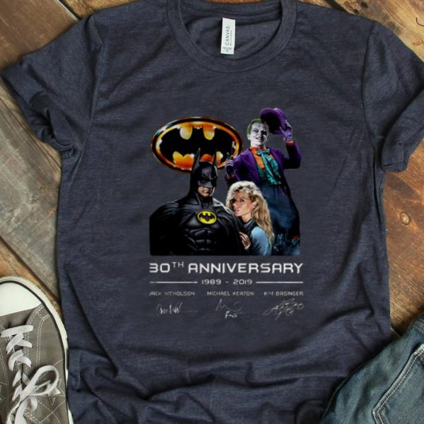 Top 30th Anniversary 1989-2019 Jack Nicholson Michael Keaton Kim Basinger Signature Version shirt