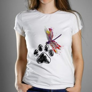 Top Dragonfly Dog Paw Color shirt