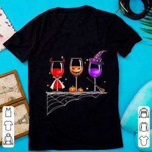 Top Wine Glass Of Witchcraft Halloween shirt