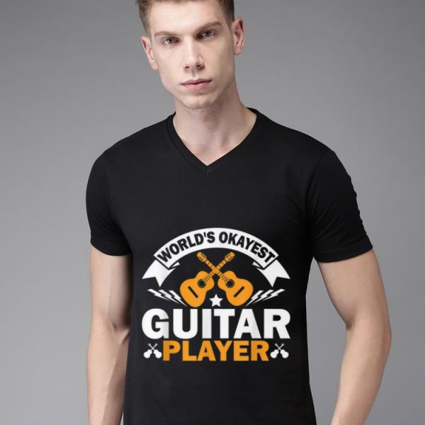 Top World's Okayest Guitar Player Acoustic Guitar shirt