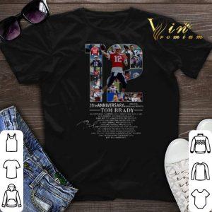 12 Tom Brady 20th Anniversary New England Patriots shirt sweater