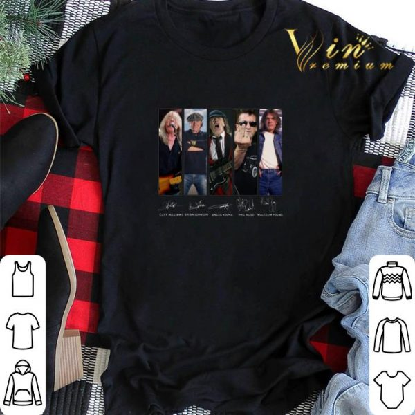 ACDC Cliff Williams Brian Johnson Angus Young Phil Rudd shirt sweater