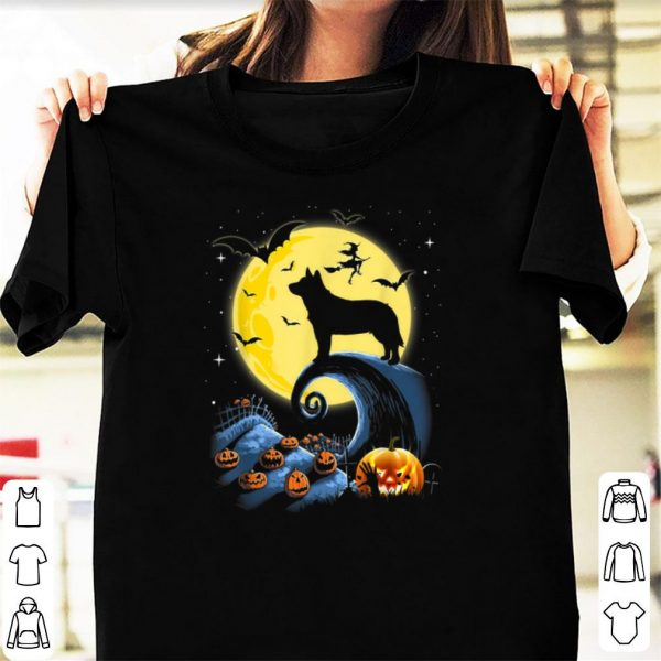 Awesome Australian Cattle Dog Moon Pumpkin Halloween Costume shirt