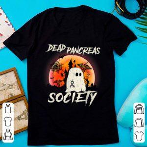 Awesome Dead Pancreas Society Halloween Ghost Diabetes Awareness shirt