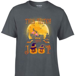Awesome Flamingos this witch loves Jeep Halloween shirt