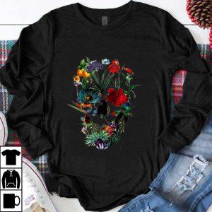 Awesome Flower skull tree skull floral skull woman shirt