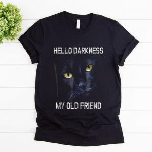 Awesome Hello Darkness My Old Friend Cat Halloween Gift shirt