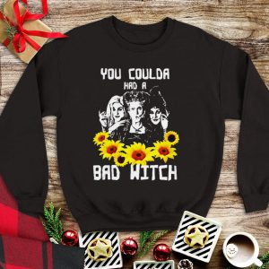 Awesome Hocus Pocus Halloween You Coulda Had A Bad Witch Sunflower shirt