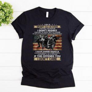Awesome I Am A Grumpy Old Veteran I Served I Sacrificed I Don't Regret I Am Not A Hero Not A Legend I Don't Care shirts