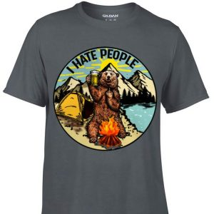 Awesome I hate people camping bear shirt