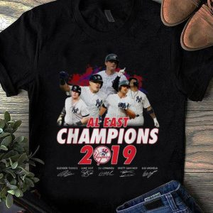 Awesome New York Yankees Al East Champions 2019 Signatures shirt