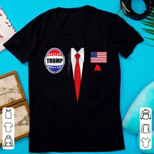 Awesome President Trump Suit Halloween Lazy Costume Flag shirt