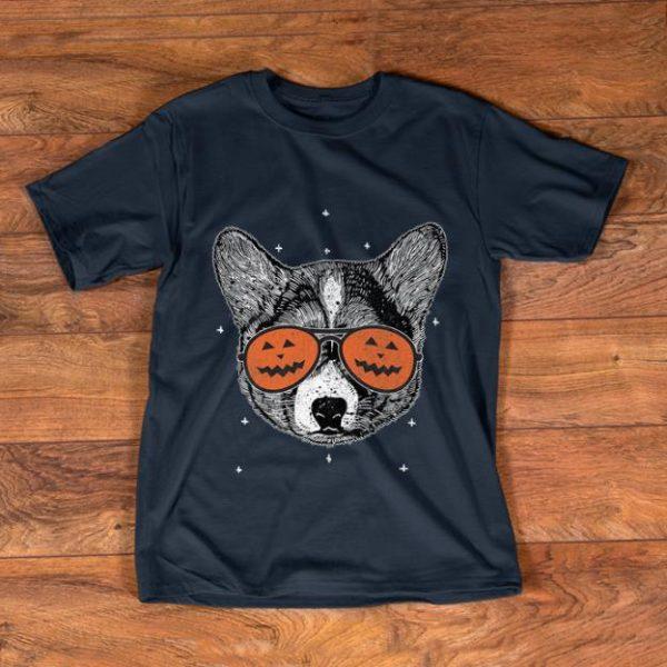 Awesome Welsh Corgi Pumpkin Sunglasses Halloween shirt