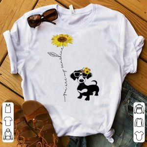 Awesome You Are My Sunshine Sunflower Dachshund shirt