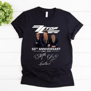 Awesome Zz Top 50th Anniversary 1969-2019 Signature shirt
