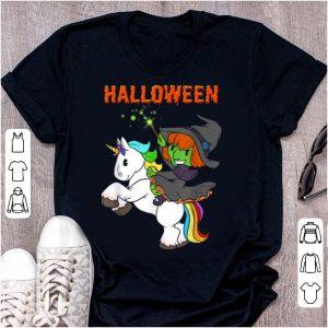 Funny Cute Unicorn Witch Halloween Graphic Girls Costume shirt