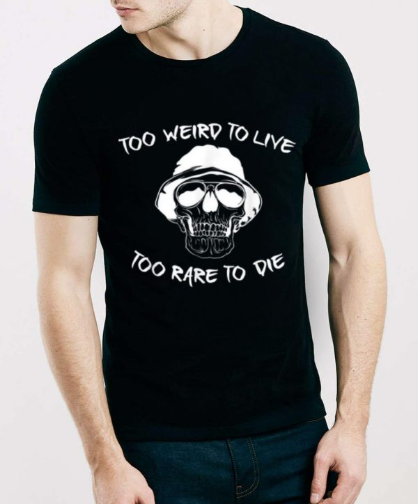 Funny Skull Graphic - Weird Halloween - Live Die shirt