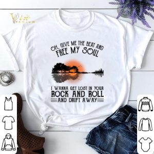 Guitar lake Oh give me the beat and free my soul Rock and Roll shirt sweater