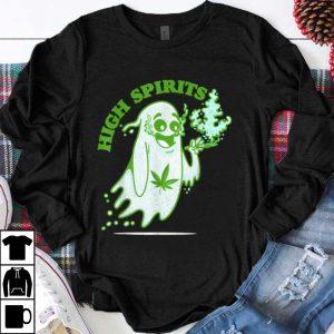 Halloween Marijuana Cannabis Ghost Design Weed Smokers shirt