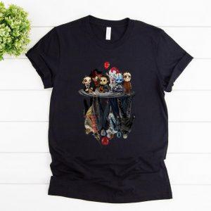Hot Chibi Horror Characters Horror Movie Characters Reflection shirt