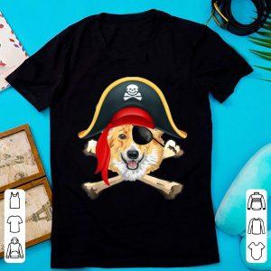 Hot Corgi Jolly Roger Pirate Funny Corgi Halloween Costume shirt