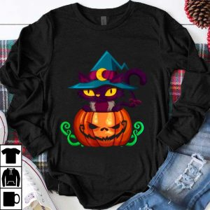 Kitten In A Pumpkin - Halloween Jack-o-lantern Cat shirt