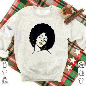 Nice Afro Diva Black Girl Magic Gold Lips shirts