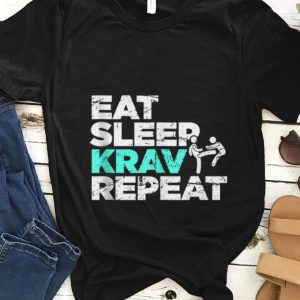 Nice Eat Sleep Krav Repeat shirt
