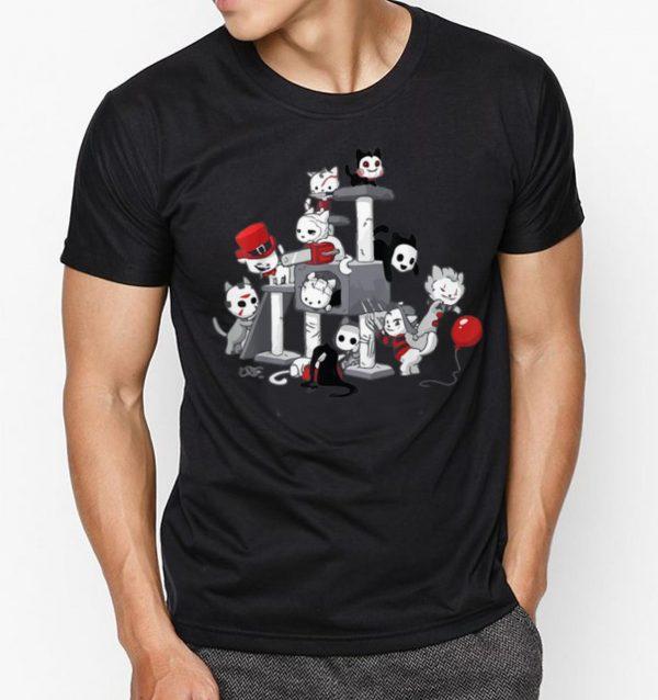Nice I Love Cats Horror Kitties Halloween Horror Character shirts