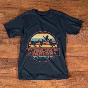 Nice Vintage Dinosaur T-Rex My Squad Calls Me Pawpaw shirt