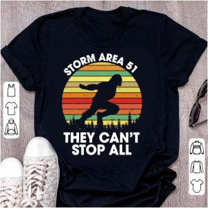 Official Bigfoot Storm Area 51 They Can't Stop All Vintage shirt