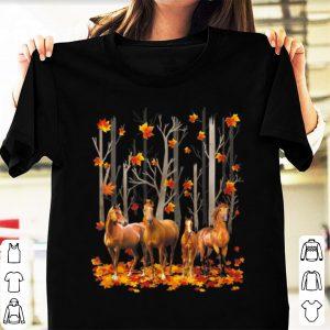 Official Horse Maple Leaf Fall Autumn Horse Lover shirt